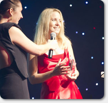 Lyn Scott receives the LTM Star Award in London on 3 Sep 2011