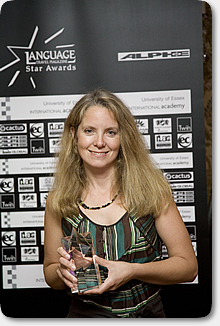 Lyn Scott receives the LTM Award in London Sept 2007